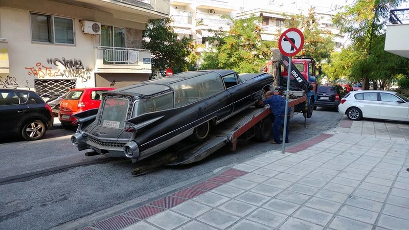 Incroyable Cadillac 1959 corbillard trouvée en Grece - Amazing 1959 Cadillac Hearse recently uncovered in Greece 1959_c12