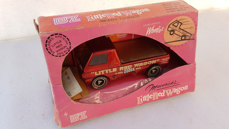 Slot car dragster 1960's BZ Dodge Little Red Wagon. 216