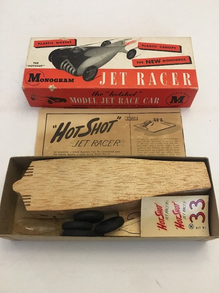 Monogram - Jet Racer - Wood body -early 1950s model car kit 5412