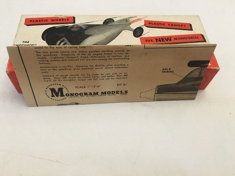 Monogram - Jet Racer - Wood body -early 1950s model car kit 5710
