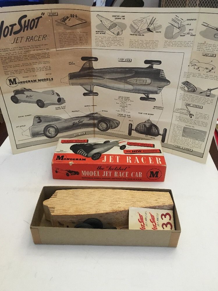 Monogram - Jet Racer - Wood body -early 1950s model car kit 5910
