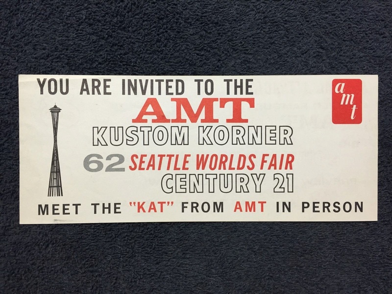 Invitation to AMT Kustom Korner 62 Seattle world Fair Century 21 S-l16126