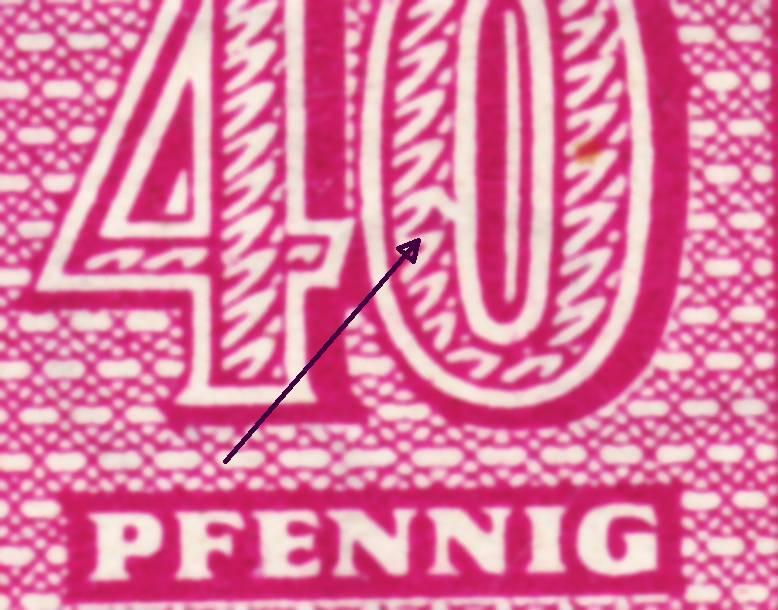 Weisser Fleck auf Michel-Nummer 136 West-Sachsen 136d10