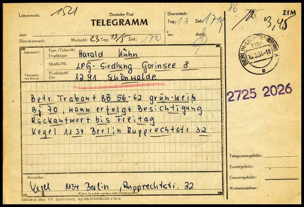 Telegramme Tele310