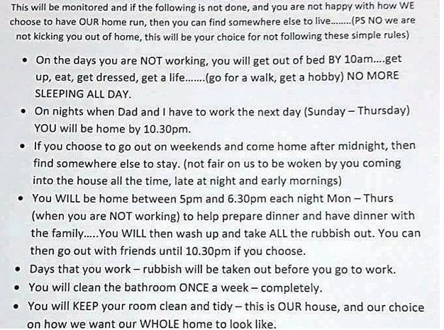 Mom's List Of Rules For Teenage Daughter Who Lives At Home Is Taking Facebook By Storm Img_7114