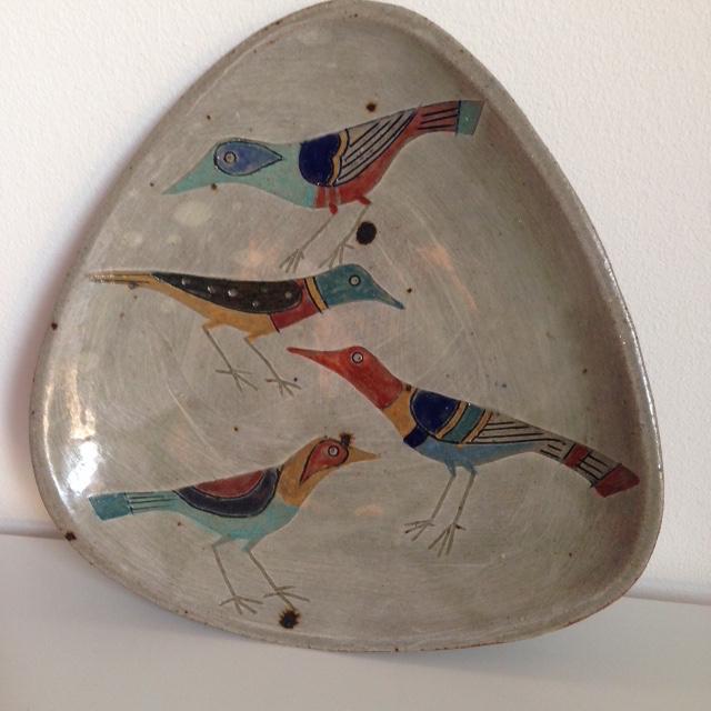 Bird plate - Jill Fanshawe Kato Img_4213
