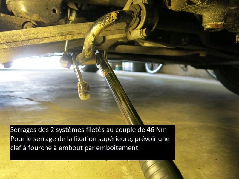 Remplacement des biellettes de barres stabilisatrices AV et AR, sur 996 1614