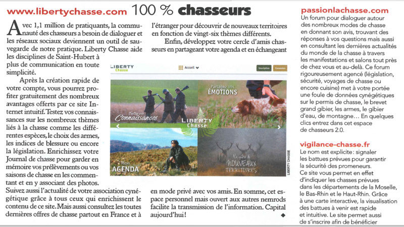 Liberty Chasse - nouveau site pour chasseurs Screen10