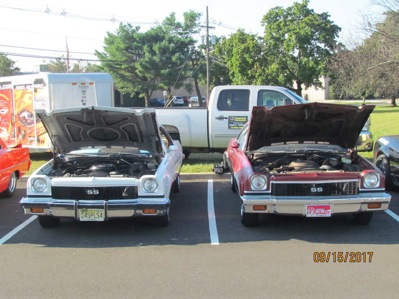 a Pair of Oshawa built 73 SS Chevelle 4 speeds side by side at show today! Img_1910