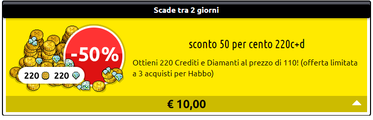 [ALL] Offerta Sconto 50% su 220 crediti e 220 diamanti!  215