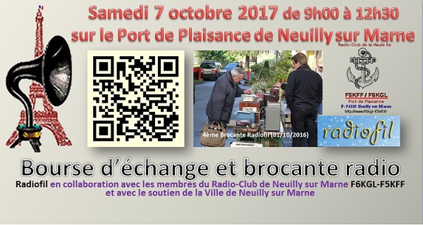 Neuilly-sur-Marne - Bourse radio TSF. Neuilly-sur-Marne (77) ((7 octobre 2017) Brocan10