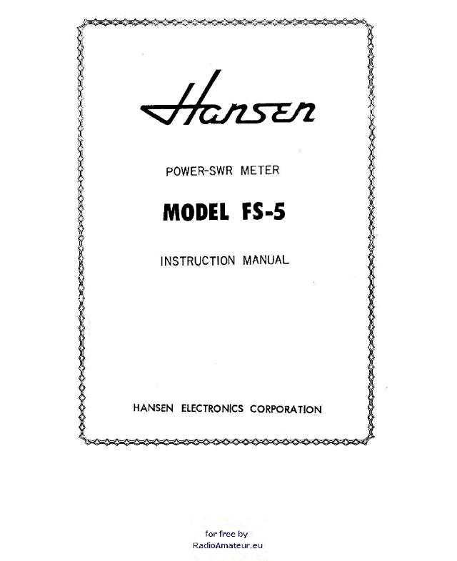BST FS-5 (Tosmètre / Wattmètre) Hansen10