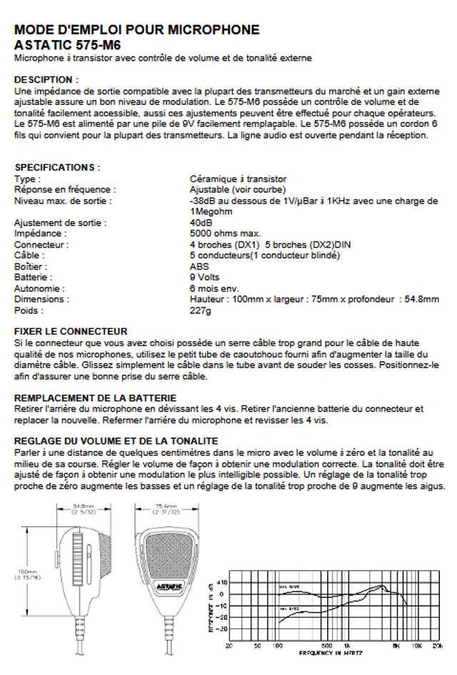 Astatic 575 M6 (Micro mobile) Mode_e10