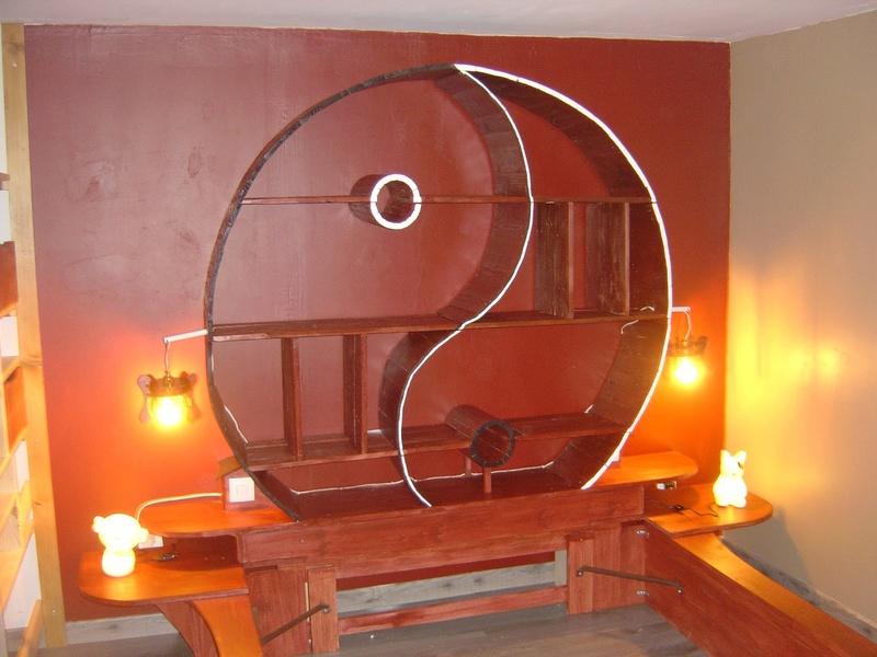 lit et deco chambre jstyle japonais pour ma fille Chevet10