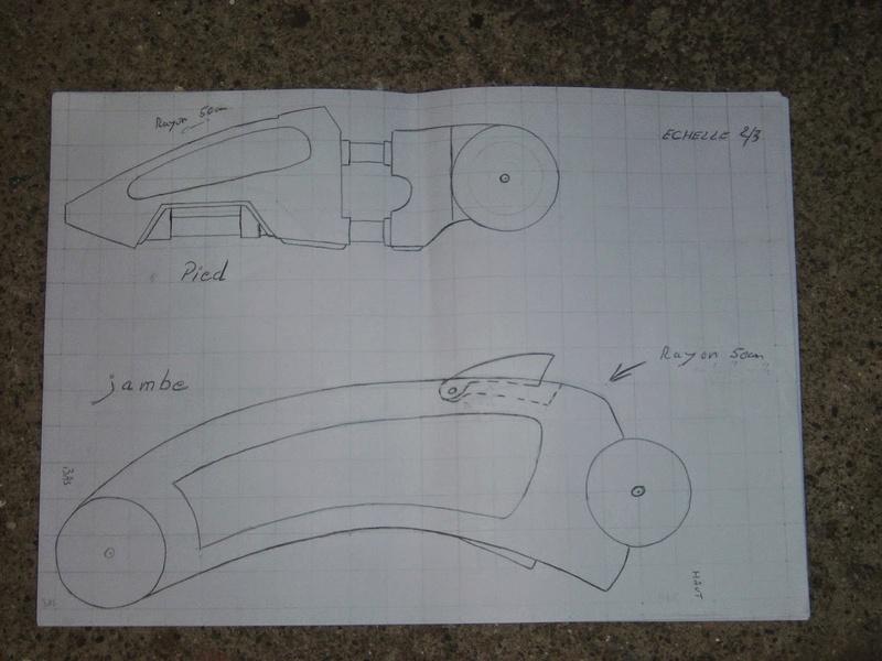 fabrication etape par étape de mon droideka Droide12