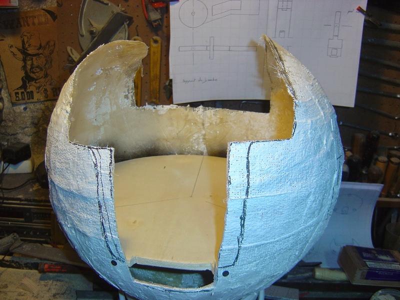 fabrication etape par étape de mon droideka Droide17