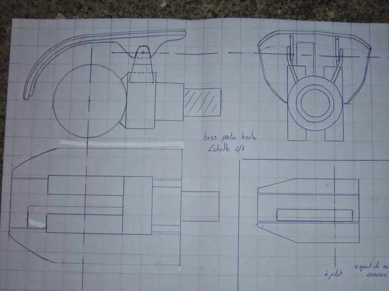 fabrication etape par étape de mon droideka Droide70