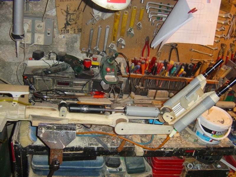 fabrication etape par étape de mon droideka Droide84