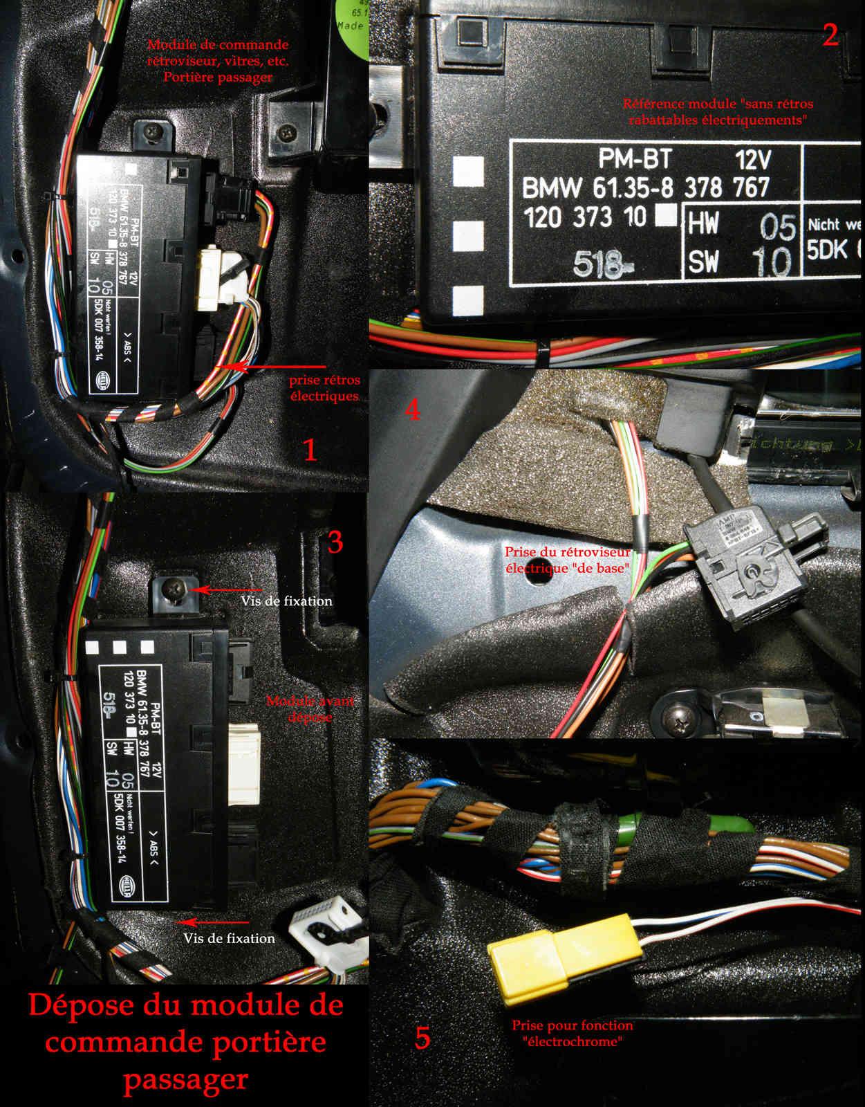 [Tutoriel] Rétrofit montage rétros rabattables électriquement Rr06p10