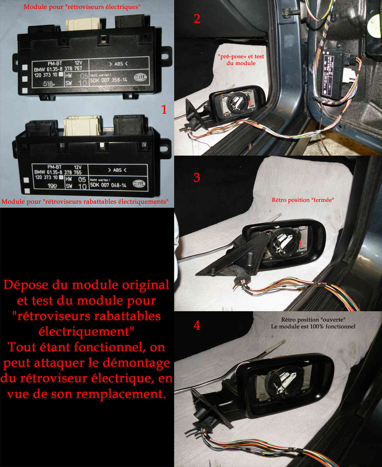 [Tutoriel] Rétrofit montage rétros rabattables électriquement Rr07p10