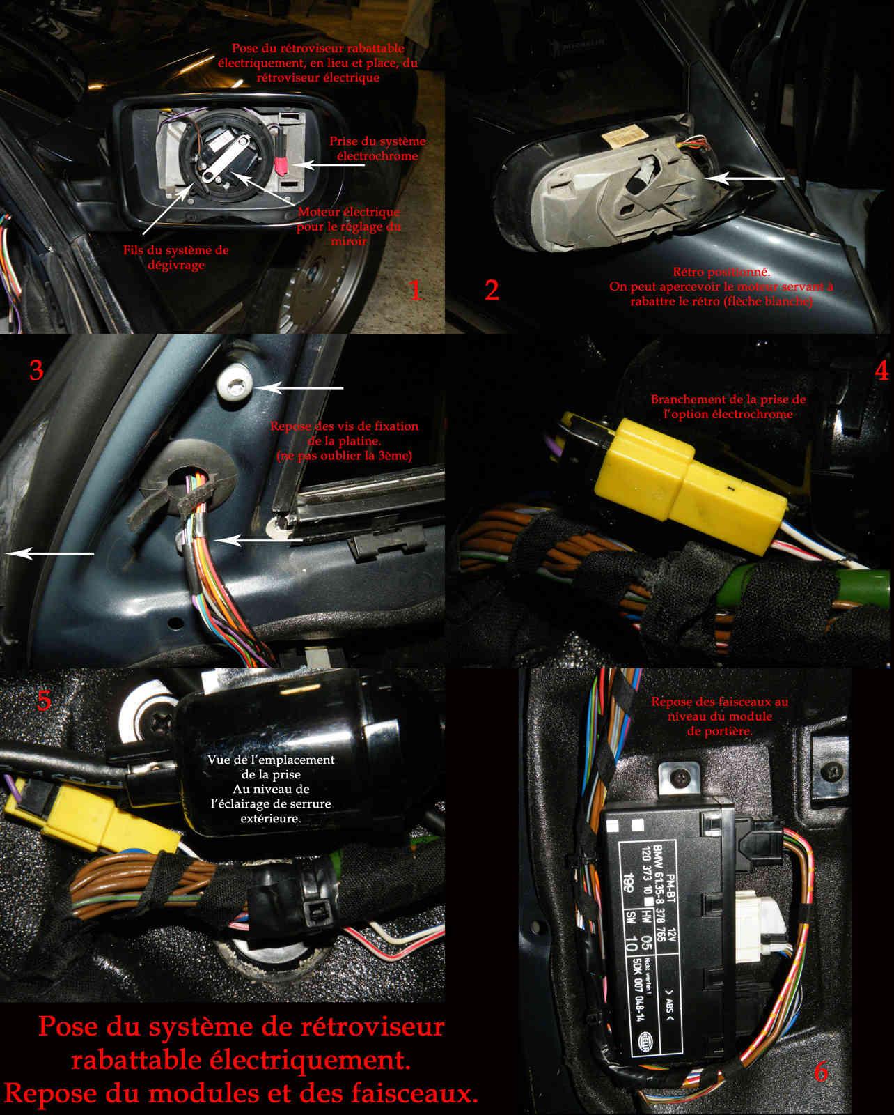 [Tutoriel] Rétrofit montage rétros rabattables électriquement Rr09p10