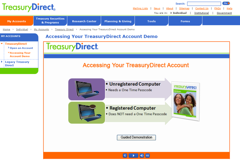 From Treasury Direct - Accessing Your TreasuryDirect Account From A Computer Screen32