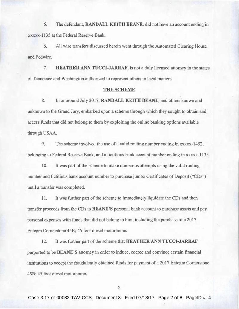 USA vs Randall Beane, Heather Ann Tucci-Jarraf Indictment 7/18/17 Tucci-19