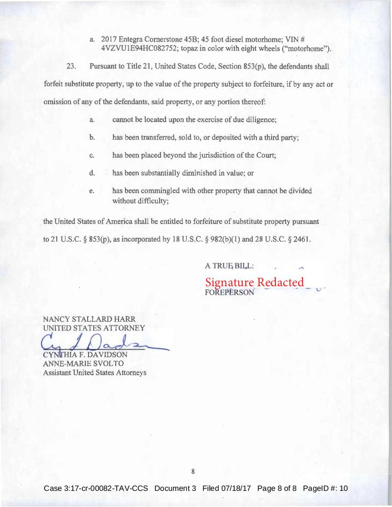 USA vs Randall Beane, Heather Ann Tucci-Jarraf Indictment 7/18/17 Tucci-25