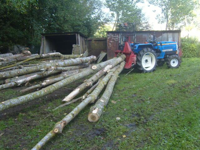 Réalisation d'une lame pousse branche sur MTE 2000 forestier  N510