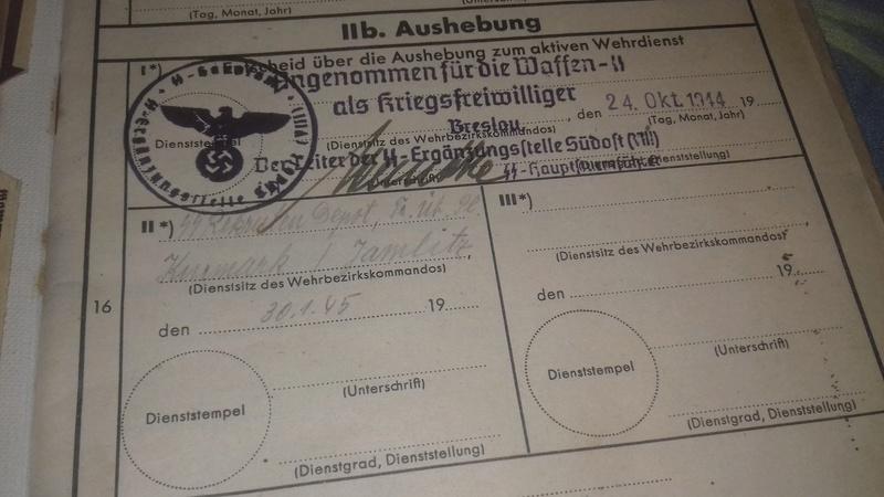 Wehrstammbuch Waffen ss 20170782