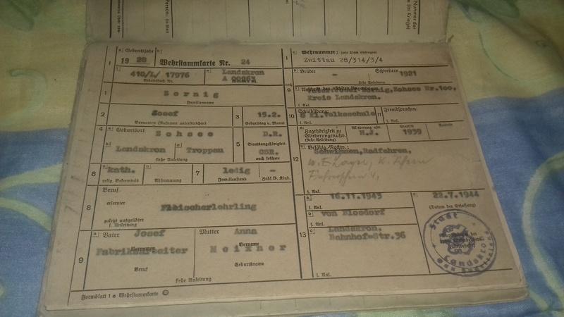 Wehrstammbuch Waffen ss 20170784