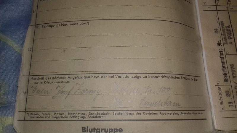 Wehrstammbuch Waffen ss 20170787