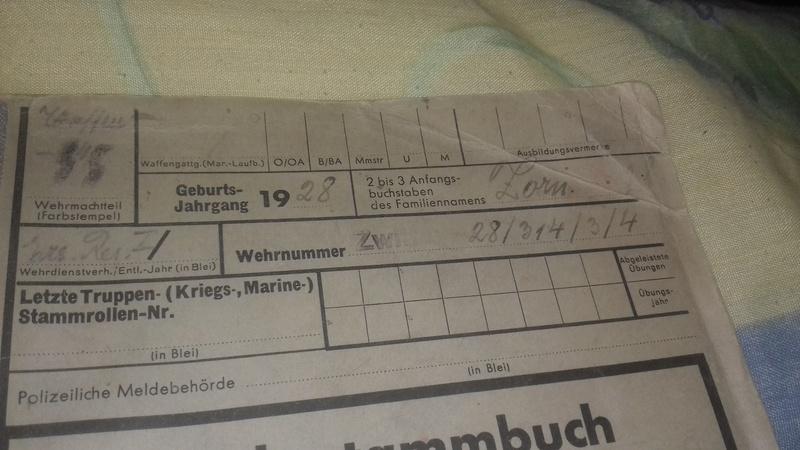 Wehrstammbuch Waffen ss 20170790