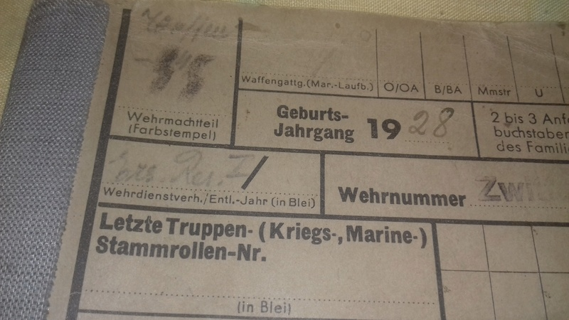 Wehrstammbuch Waffen ss 20170791