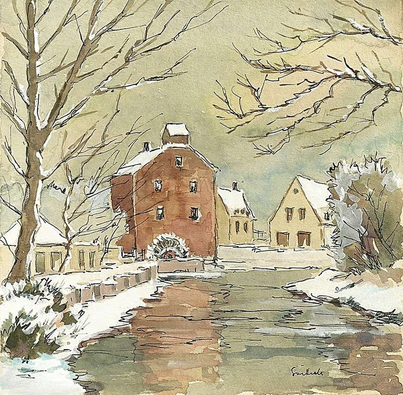 Original Water Colour Paintings - 1962. Scan0013