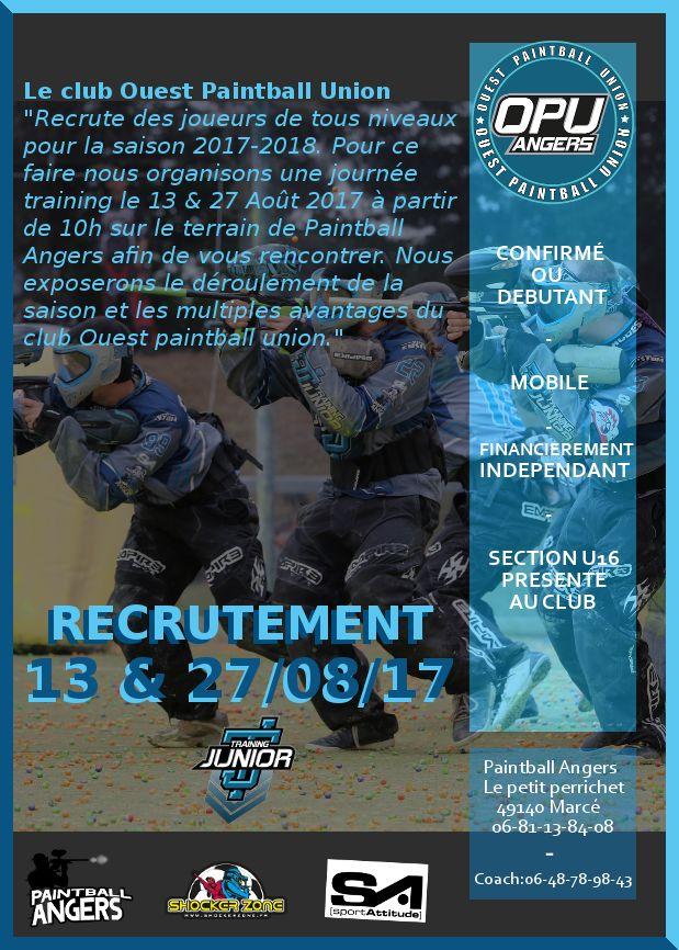 Training Junior recrute (France / 49) Recrut17