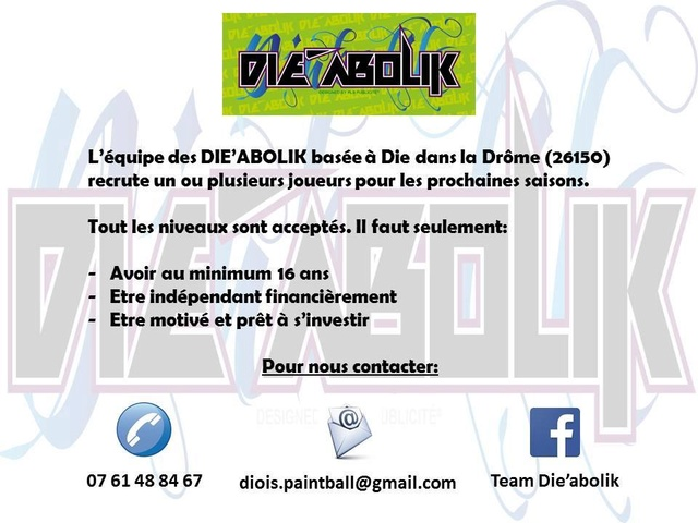 Team Die'Abolik Recrute (France /26) Recrut18