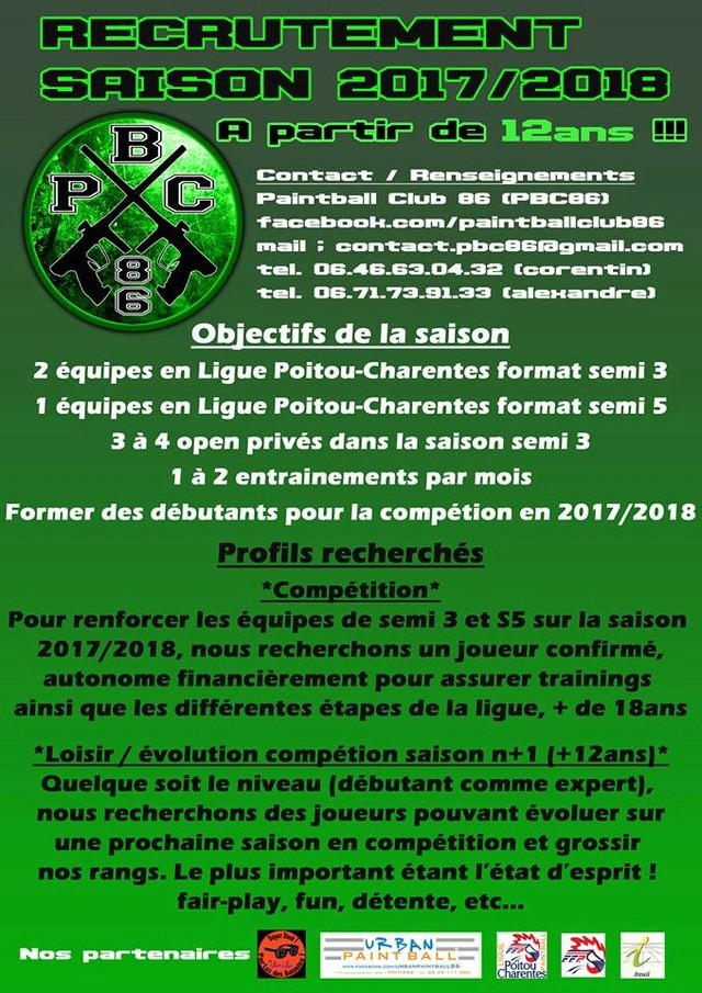 PaintBall Club 86 recrute (France / 86) Recrut19