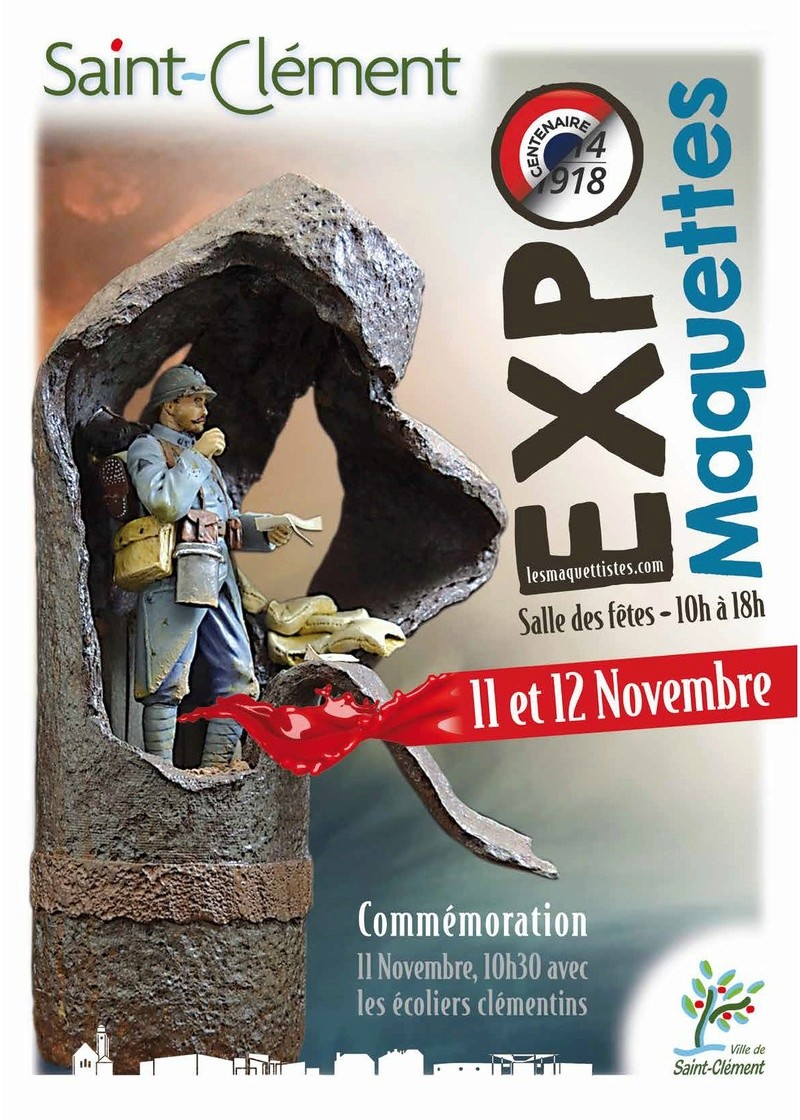 """Exposition des """"maquettistes .com """" 11 et 12 novembre 2017 - Page 6 Affich10"""