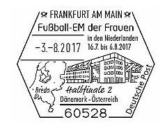 Sonderstempel Deutschland zum Halbfinaleinzug Österreichs bei der Fussball-EM der Frauen Zzzzzz10