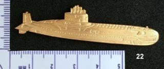 """Insignes et médailles des sous-marins """"Projet 941 Akula""""  Collec37"""