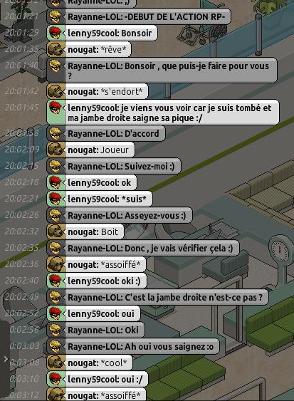 [C.H.U] Rapports d'actions RP de Rayanne-LOL Voilie35