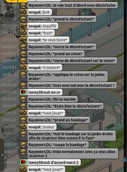 [C.H.U] Rapports d'actions RP de Rayanne-LOL Voilie36