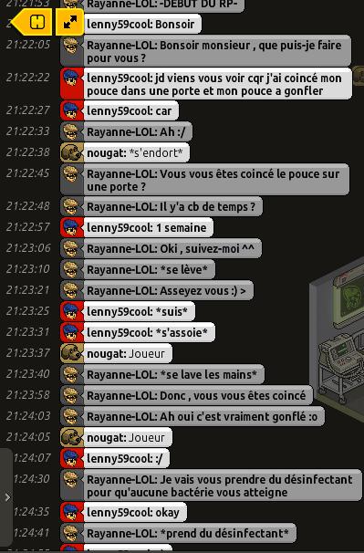 [C.H.U] Rapports d'actions RP de Rayanne-LOL Voilie43