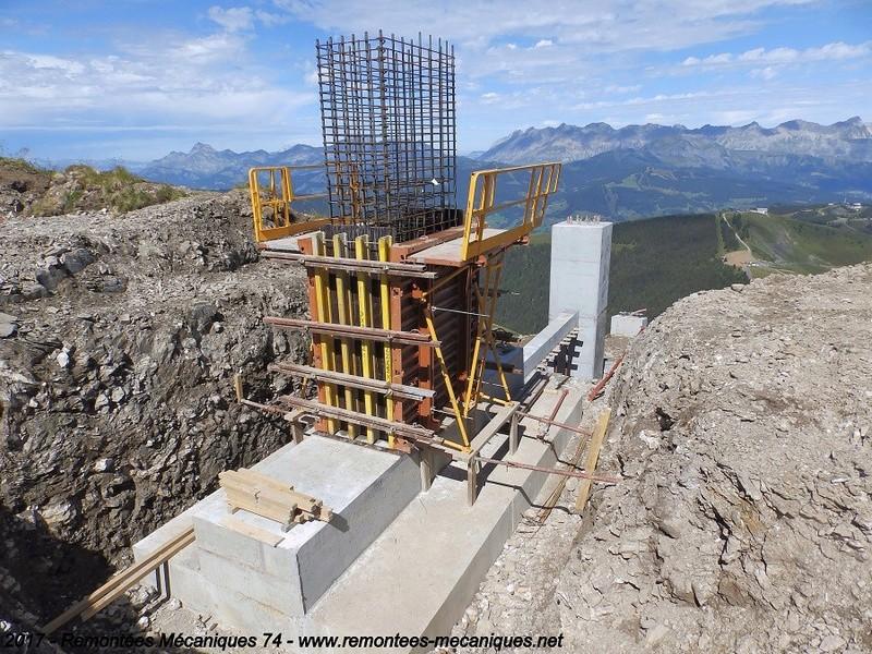 Construction télésiège débrayable 6 places (TSD6) de l'Épaule - Chantiers été 2017 000110