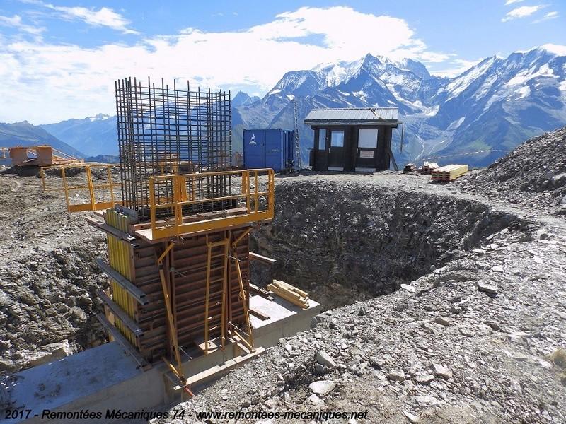 Construction télésiège débrayable 6 places (TSD6) de l'Épaule - Chantiers été 2017 000310