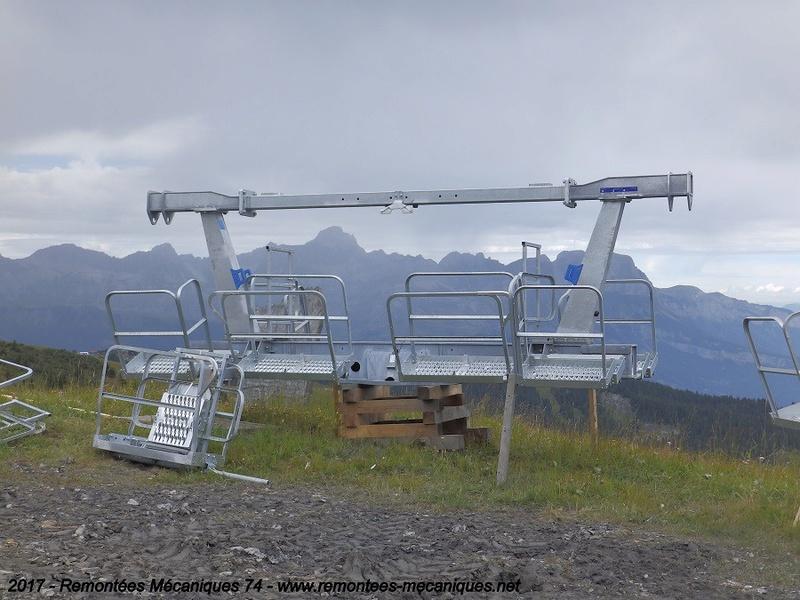 Construction télésiège débrayable 6 places (TSD6) de l'Épaule - Chantiers été 2017 001010
