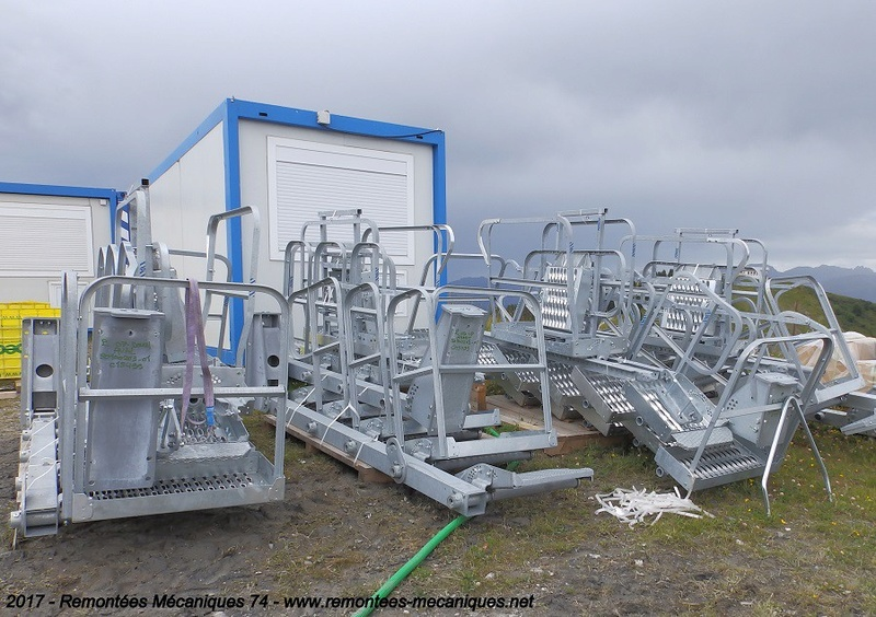 Construction télésiège débrayable 6 places (TSD6) de l'Épaule - Chantiers été 2017 001210