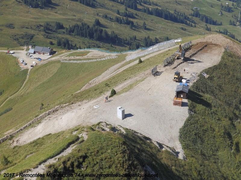 Construction télésiège débrayable 6 places (TSD6) de l'Épaule - Chantiers été 2017 001610