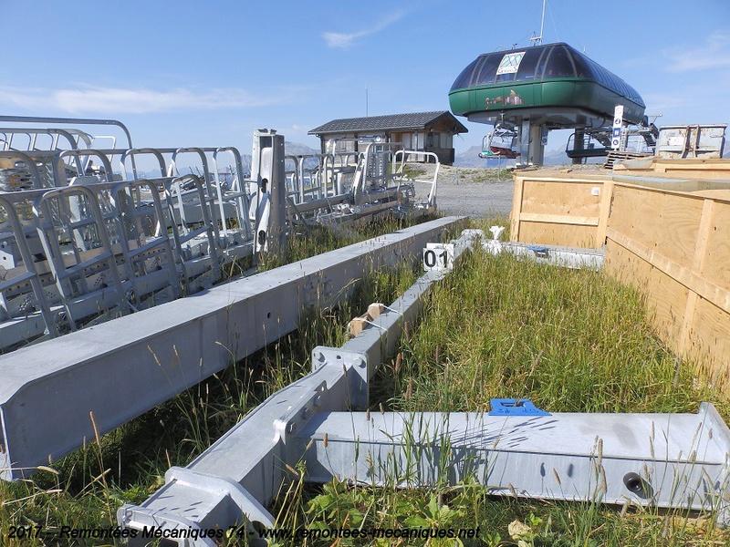 Construction télésiège débrayable 6 places (TSD6) de l'Épaule - Chantiers été 2017 002510